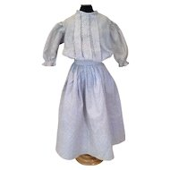 C.1900 Two Piece Calico Doll Dress
