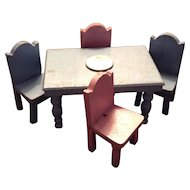 Strombecker/Schoenhut Doll House Table and Chair Set