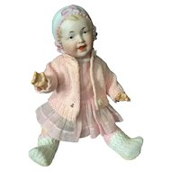 "Happy Bonnet Head Toddler in 10"" Cabinet Size-German"