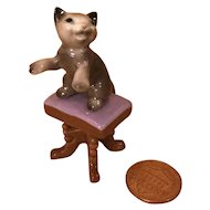 Wee Bone China Rascal Kitten for Doll House/Mignonette