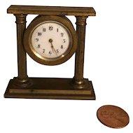 Wonderful Bronze Miniature Clock for French Fashion