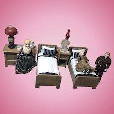 Early 20c. Dollhouse Bedroom Set