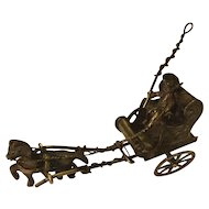 Miniature Silver Carriage and Horse