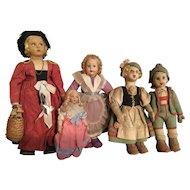 5 Italian Made Regional Dolls