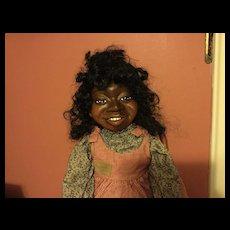 """Nancy Bruns """"Yolanda"""" Wooden Artist Doll"""