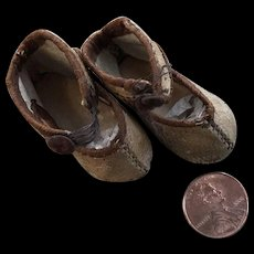 Antique Wee Leather Doll Shoes