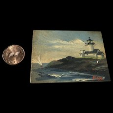 Vintage miniature Oil/Acrylic Painting