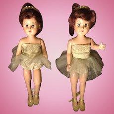 C.1950 Twin HP Ballerina Bent Knee Walkers