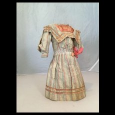 """C.1900 Factory Made German Doll Dress for 16"""" Doll"""