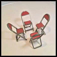Set of 4 Matching Dollhouse Folding Chairs