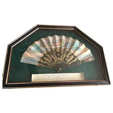 Large Mid 19c. To Late 19c. French Handptd. Fan and Box