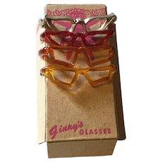 Mid 50s Vogue Ginny Set of Eye Glasses