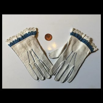 French Made Child's Gloves with Fine Detail