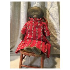 Great Afro/American Printed Clothe Doll