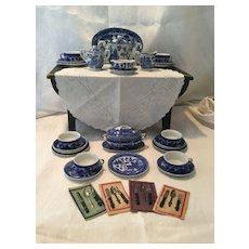 Blue Willow Tea/Dinner Set-Occupied Japan