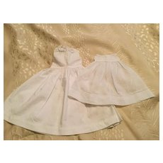 2 Vintage Doll Full Length Doll Petticoats