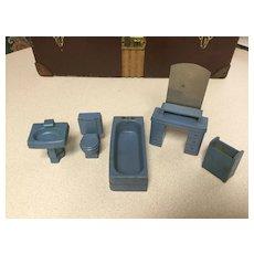 Deco Era Doll House Bathroom Set