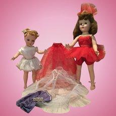2 Hard Plastic Ballerinas and Accessories -1950s