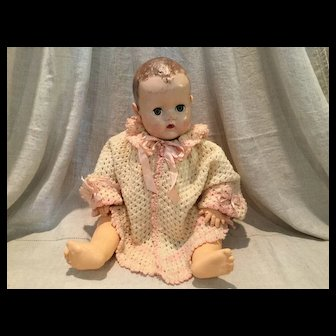 Crocheted Sweater/Poncho for Large Baby Doll