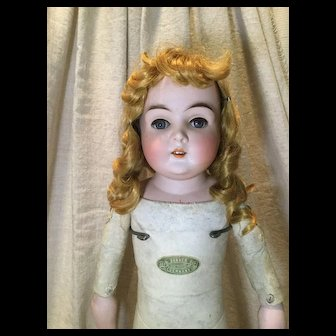 """C.1893 Banner Kid Doll in 28"""" Size-Germany"""