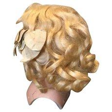 Lovely Full Kestner Blond WIg w/Orig. Bows
