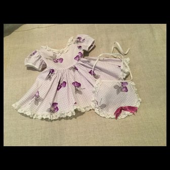 Vintage Dress and Apron for Hard Plastic Doll