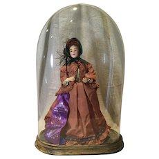 Artist Betty Curtis CIvil War Lady Doll, UFDC Ribbon Winner 1970 - Red Tag Sale Item