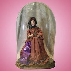 Artist Betty Curtis CIvil War Lady Doll, UFDC Ribbon Winner 1970