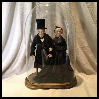 Artist Made Pair of Dolls in 1860s Garb