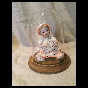 Small Glass Dome for All-Bisque or Mignonette