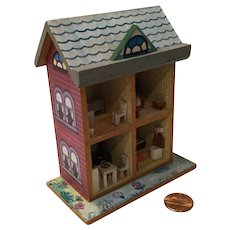 Vintage Wee Doll House for Your Doll House or Mignonette