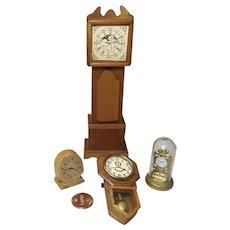 4 Vintage Doll House Clocks