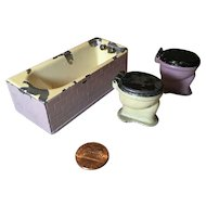 3 Pieces Tootsie Toy Bathroom Fixtures