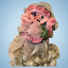 Vintage Doll Hat for French Fashion or German Lady Doll