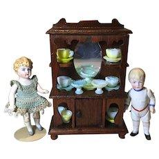 1910/11 Star Nov. Works Doll House Curio Cabinet w/Mirror