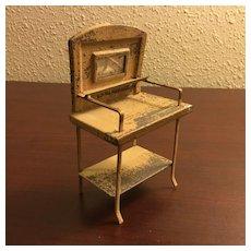 Antique Tin Doll House Washstand w/Mirror