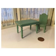 3/4 Scale Deco Chair and Table for Doll. House