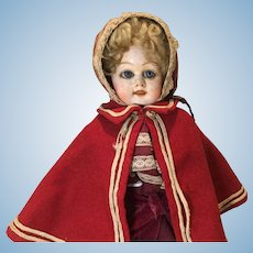 19c. Papier Mache' Doll, O/C Eyes, Great Clothes