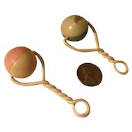 2 1930s/40s DyDee Baby Rattles