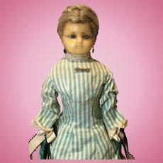 """21"""" English Wax Head Doll"""