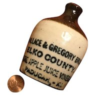 Miniature Vinegar Advertising Jug