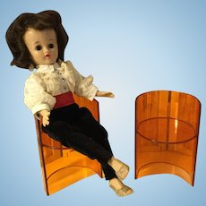 """Pair of Lucite Chairs for 8-11"""" Dolls"""