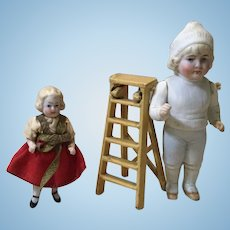 "Miniature Kilgore Iron Step Ladder in 1/2"" Scale"