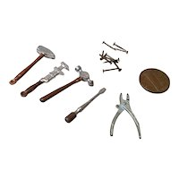 5 Miniature Doll House Tools for the Garage/Tool Box
