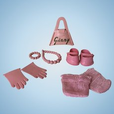 9 Pink Ginny and Friends Accessories
