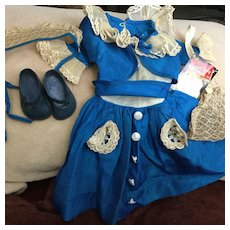 """1950s Taffeta & Lace Doll Outfit and Tag-24"""" Doll Size"""