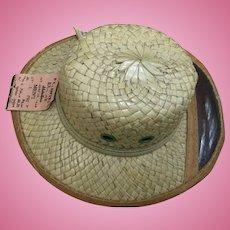 """C.1928 Straw """"Safari"""" Sample Hat"""