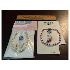 2 Old Store Stock Necklace and Earrings Sets for Cissy & Friends
