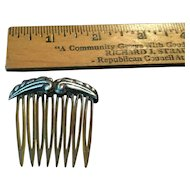 Lovely Small Sterling Topped Hair Comb