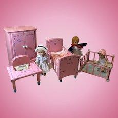 4 Piece Keystone Nursery Set for Little Genius and Ginnette Dolls